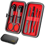Nail clipper set, High Pedicure stainless steel professional manicure and pedicure tools 7 PCS set, professional cleaning car