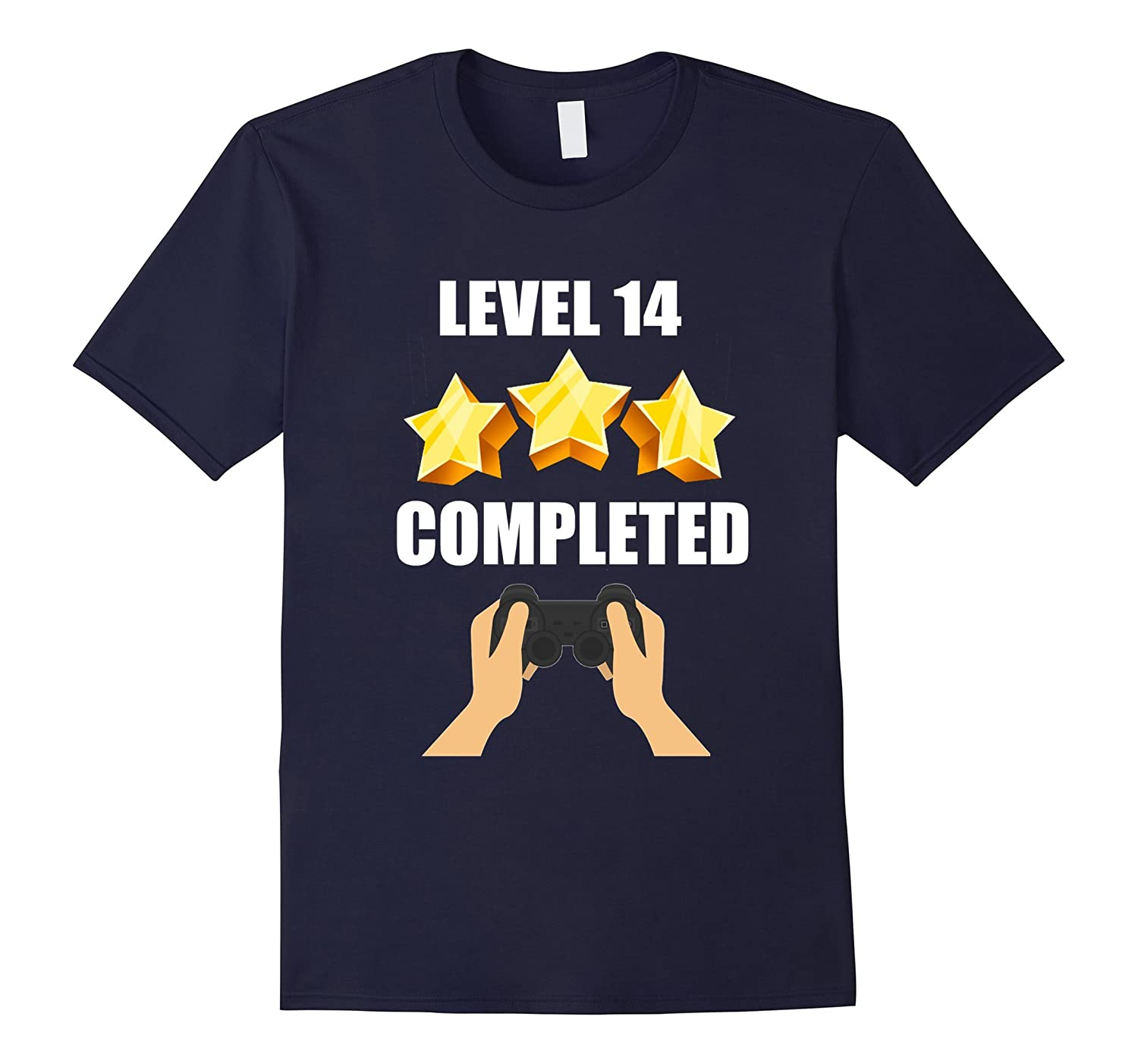 Level 14 Complete Funny Video Games 14 Birthday Gift T-Shirt-TD
