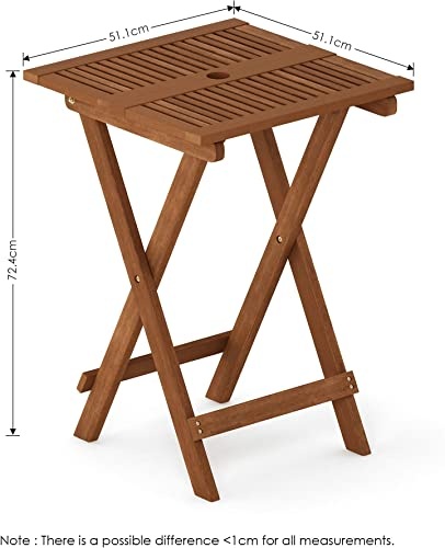Furinno FG18065 Tioman Hardwood Patio Furniture Folding Table