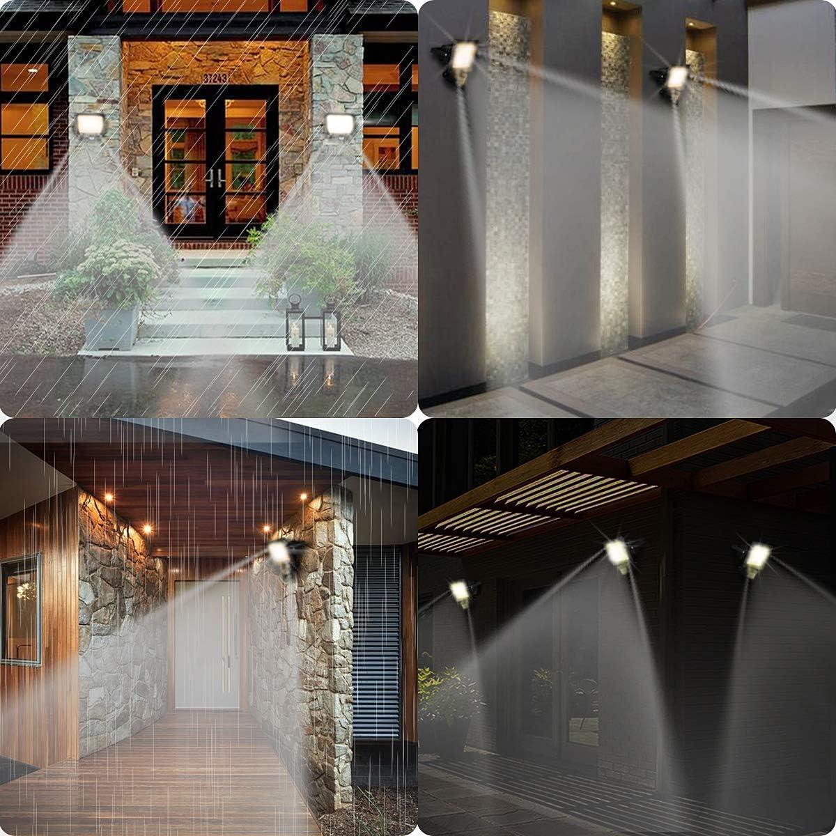 garage cour terrain de sport Projecteur LED avec d/étecteur de mouvement 10 W blanc chaud 800 lm 3000 K Projecteur ext/érieur en aluminium 220 V /étanche IP65 pour jardin