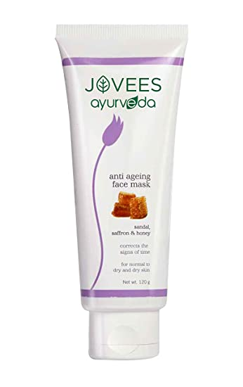 Jovees Ayurveda Sandal, Saffron & Honey Anti Ageing Face Mask 120 g by Jovees