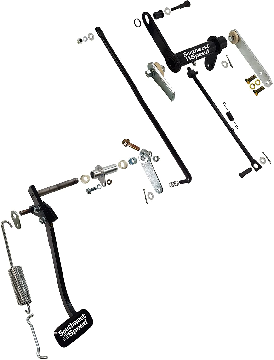 New 1957 Chevy Factory Replacement Clutch Pedal 57 Engine Mount Diagram Linkage Kit By Southwest Speed Tri 5 Bel Air Includes Z Bar Cross Shaft