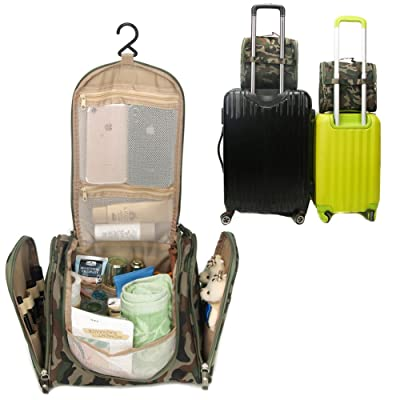 lovely SunKni Portable Toiletry Bag Wash Bag Bathroom Hanging Bag Travel  Bag Zipper Storage Bag Drawer bd01069a94774