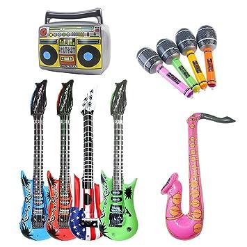 Hinchable JugueteGuitarra Micrófono Dsaren Saxofón Inflables De 5AL34Rj