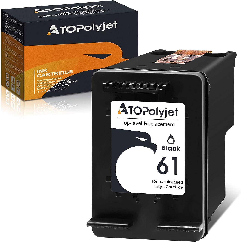 ATOPolyjet Remanufactured Ink Cartridge Replacement for HP 61 Black for Envy 4500 5530 4502 4501 5535 OfficeJet 4630 4635 2620 DeskJet 2540 3050 2050 1000 1010 1510 3510 1512 2542 3512 2514 Printer