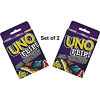UNO Playing Flash Side Cards Kids, Party and Table Fun Games/Playing Cards Game (Pack of 2)
