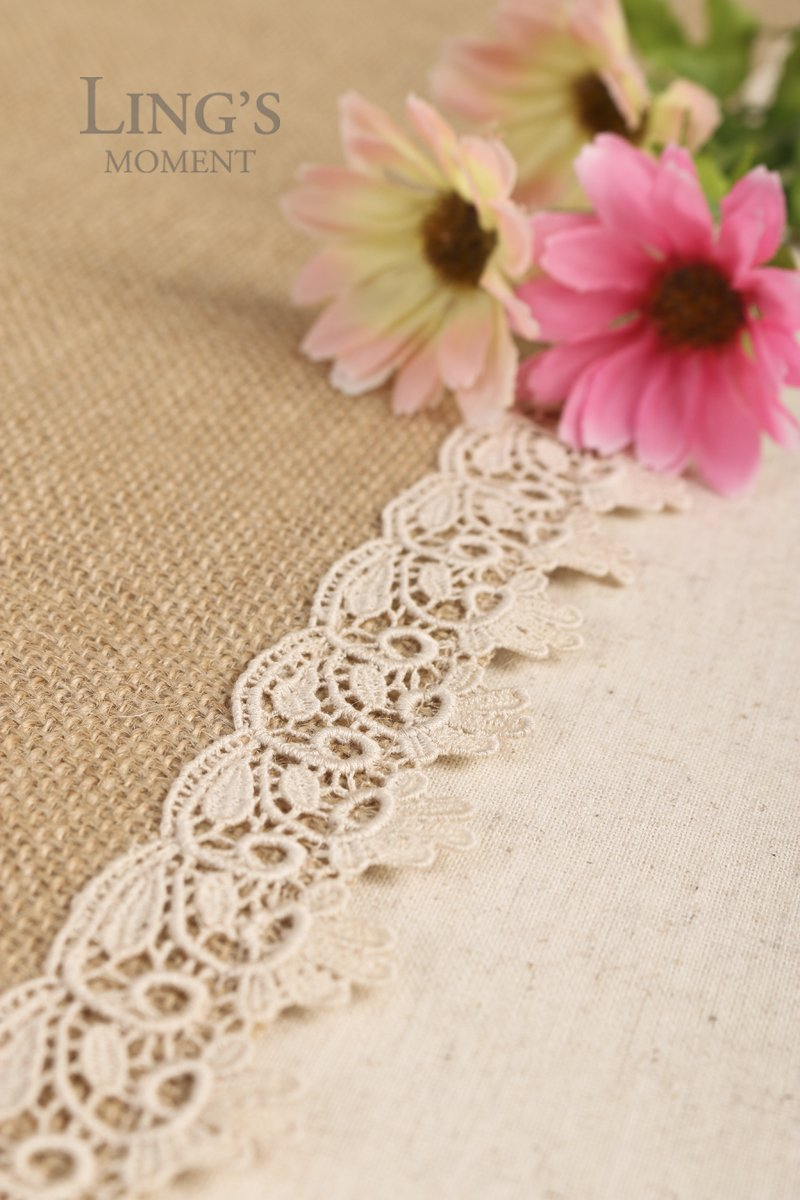 Lings moment 12x48 Inch Burlap Cream Lace Hessian Table Runner Jute Rustic Spring Easter Decor Country Wedding Party Decoration Thanksgiving Table Decorations Ling/'s moment COMINHKPR131675