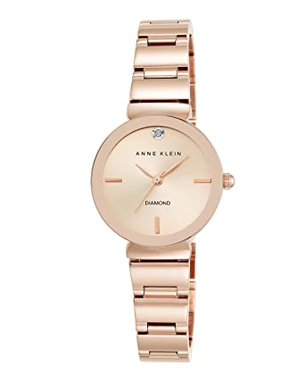 8b9861af7 Anne Klein New York Women's AK/2434RGRG Diamond-Accented Rose Gold-Tone  Metallic