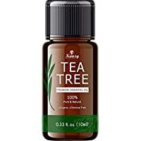 Kanzy Tea Tree Oil Organic 10ml, 100% pure tea tree olie voor aromatherapie, gezichtshuid, wratten, anti-puistjes, acne…