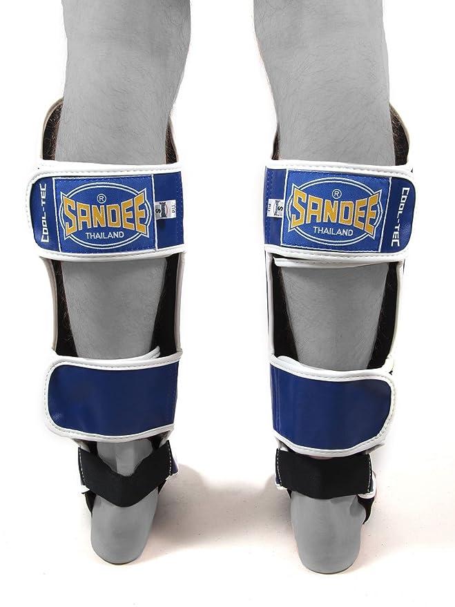 Sandee Cool-Tec Junior Muay Thai Shin Guards White