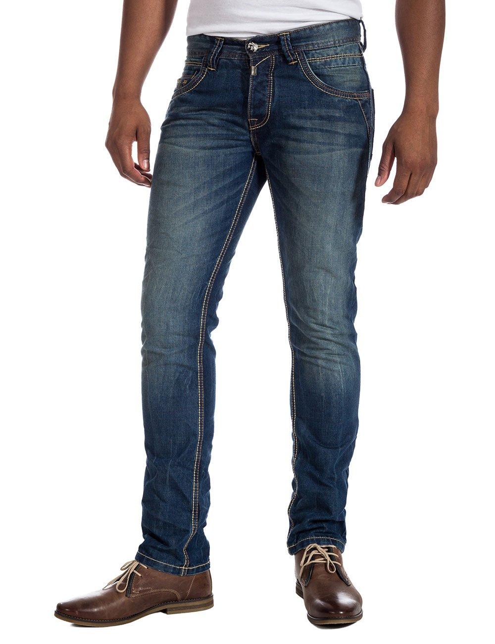 Mens 3918 Bleu Océan Fuseau Horaire Jeans Lavage e0kqg3b