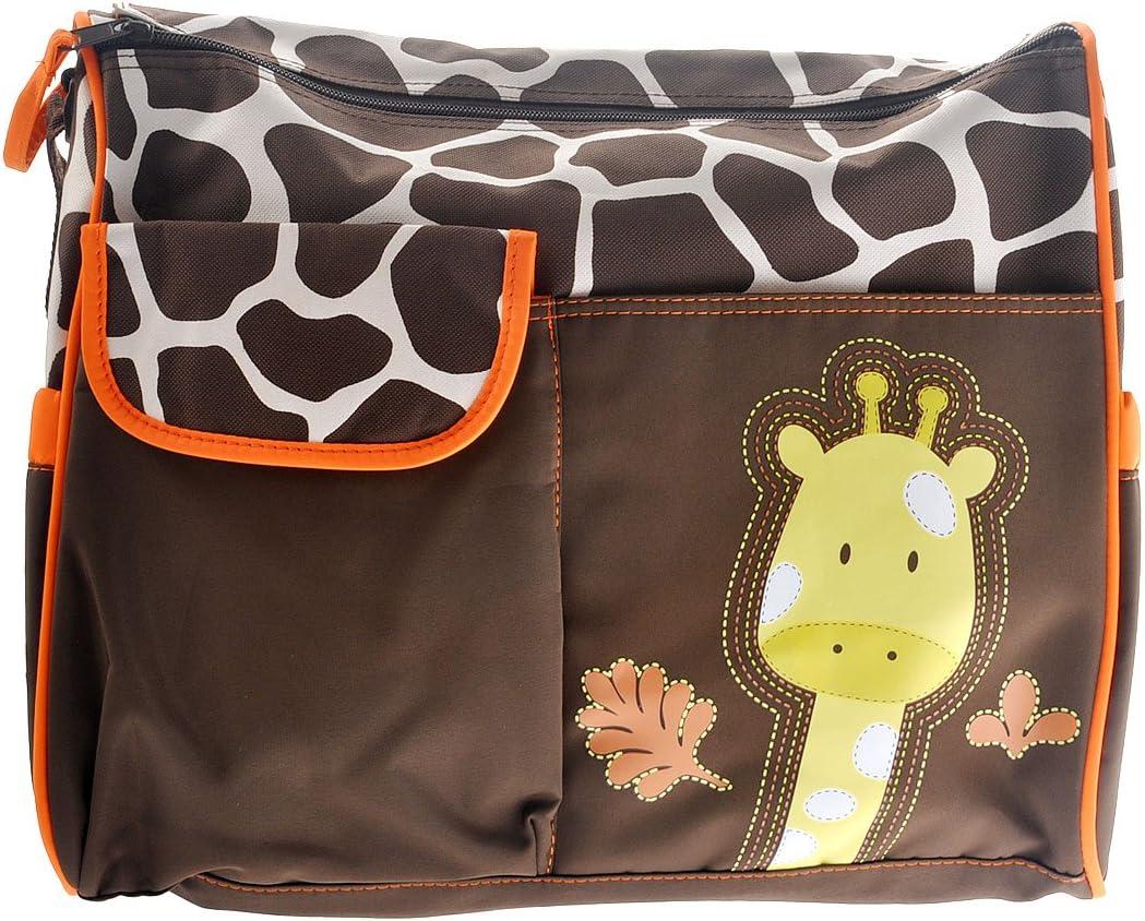 multifonctionnel momie Sac /à main b/éb/é Sac /à langer Motif girafe Orange