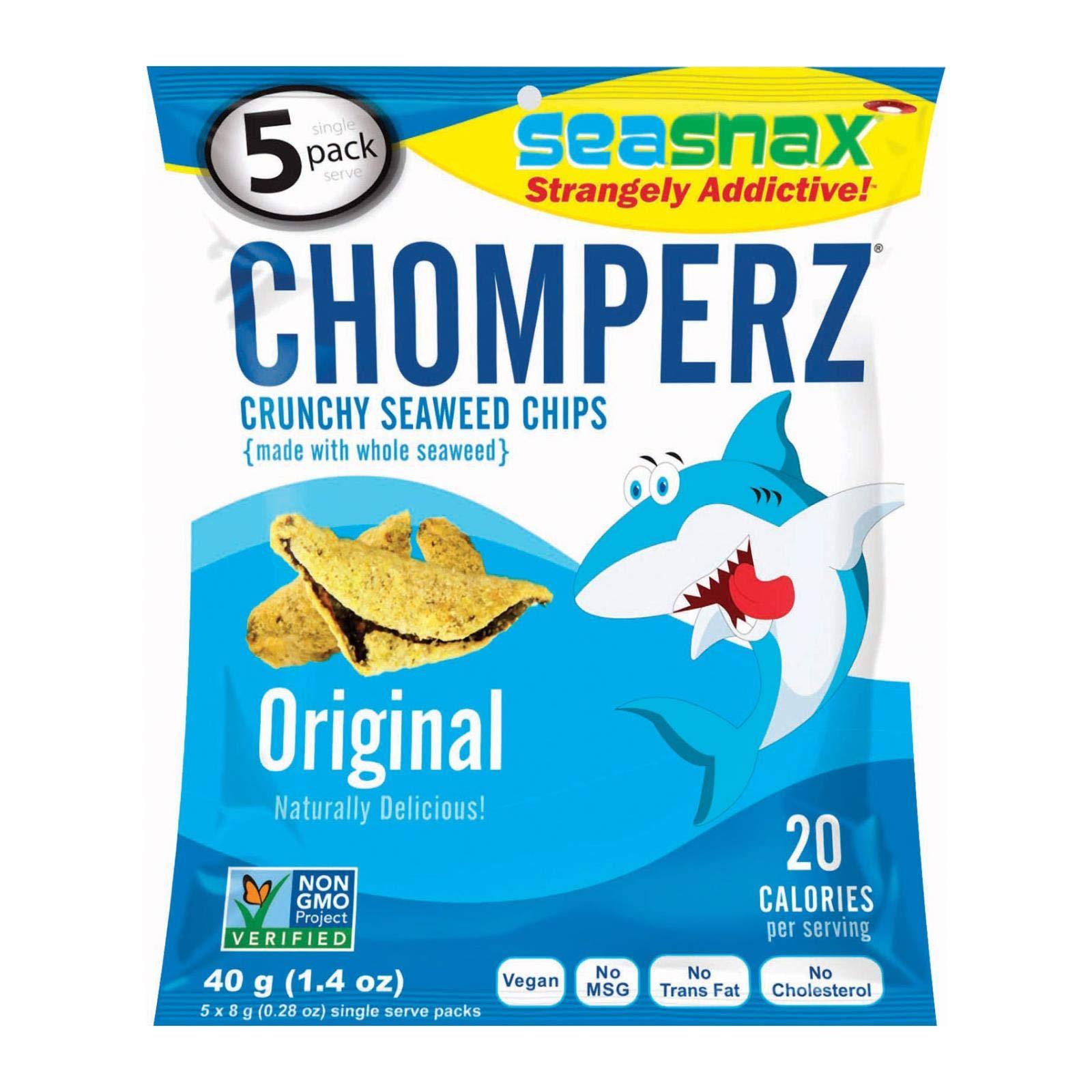 Seasnax, Seaweed Chip Chomperz Original, 1.4 Ounce
