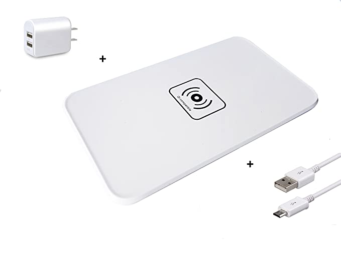 Wireless Charger, Qi Wireless Fast Charging Pad Station Mat 10W for Samsung Galaxy S8, S7, S6, Edge, Note 5, Nexus 6, Nexus 5 HTC Droid DNA, Nokia ...