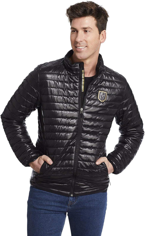 Levelwear Mens Vegas Golden Knights Black Sphere Jacket Officially Licensed Five Hole Clothing