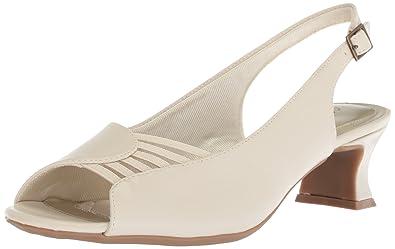 31788d1687b Easy Street Women s Bliss Heeled Sandal Bone 5.5 M US