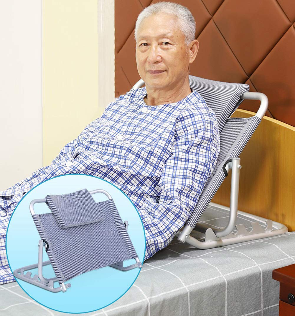 Bed Backrest,Disability Mobility Aid Adjustable Sit-up Back Rest for Orthopedic Neck, Head and Lumbar Support, Aluminum Alloy& Breathable Fabric 68 * 9 * 54.5cm by DGSD