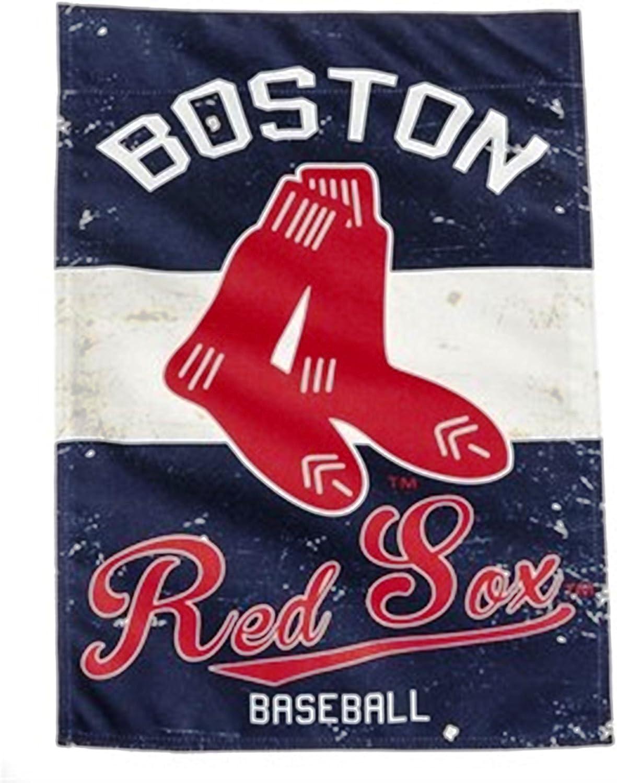 Rico Industries, Inc. Boston Red Sox EG Vintage GARDEN Flag Premium 2-sided Retro Banner Baseball