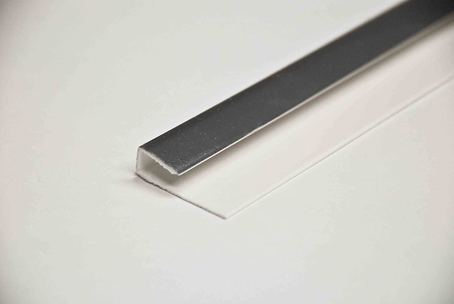 5mm wall and ceilng panels end cap in silver used with waterproof bathroom wall panels