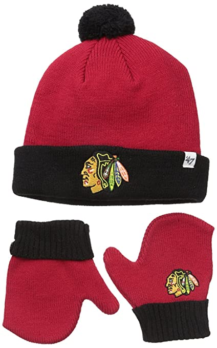 Chicago Blackhawks Infant Toddler  quot Bam Bam quot  Beanie Hat POM and Glove  Gift 9b561a653f33