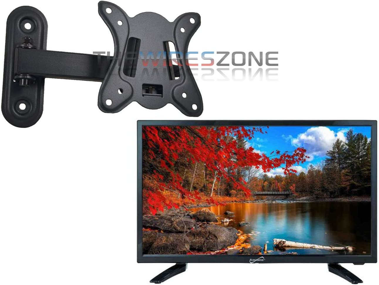 Flat Screen LED HD TV 1080P HDMI USB Wall Mountable Built in Digital Tuner 24/""