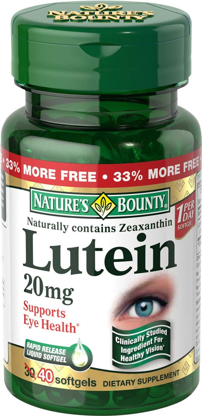 Nature's Bounty Lutein, 20 mg, 40 Count