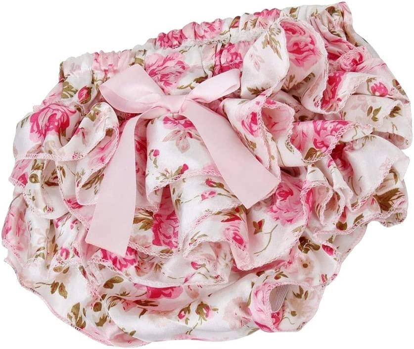 Stain Infant Baby Bloomers Newborn Diaper Cover Cute Tutu Ruffled Panties 3-24M