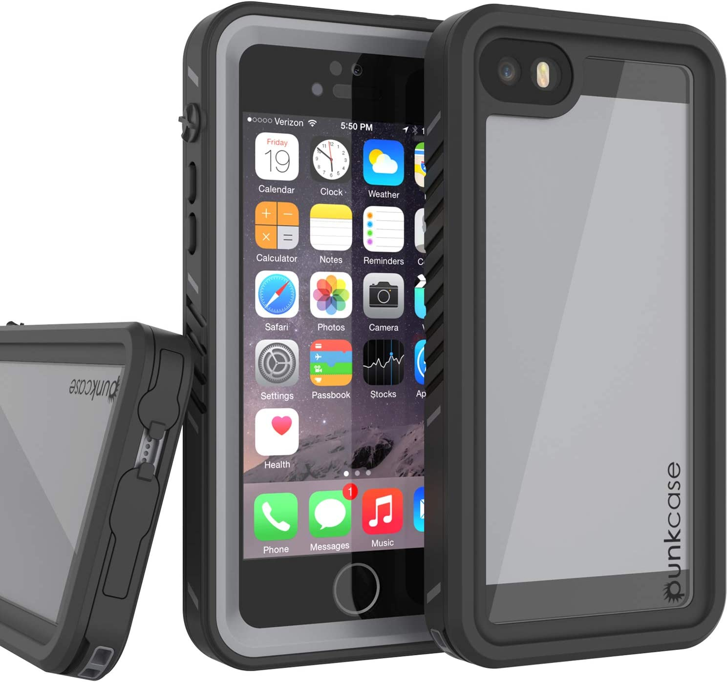 PunkCase SE 2016 Waterproof Case [Extreme Series] [Slim Fit] [IP68 Certified] [Shockproof] [Snowproof] Armor Cover W/Built in Screen Protector Compatible W/iPhone 5/5s & iPhone SE (Black)