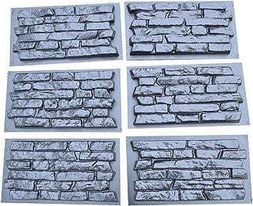 2 Formen für Wandklinker Riemchen Schieferstruktur 310