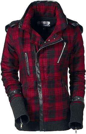 1f527d28b48d Poizen Industries Z Jacket Winterjacke schwarz rot  Amazon.de  Bekleidung