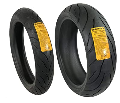 CONTINENTAL MOTION Tire Set 120/70zr17 Front & 190/50zr17 Rear 190 50 17 120 70 17 2 Tire Set by CONTINENTAL