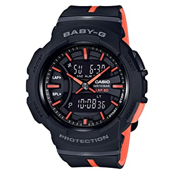33d5153b60 Amazon.com: Casio Baby-G BGA-240 Two-Tone Series Black Orange Watch ...