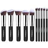 Luxebell® Make-up Pinsel Set,10 Stück Professionelle Makeup Pinsel Lackierter Echtholzstiel Synthetisches Haar Pinselset Anzüge für Berufsverfassungs oder Ausgangsgebrauch