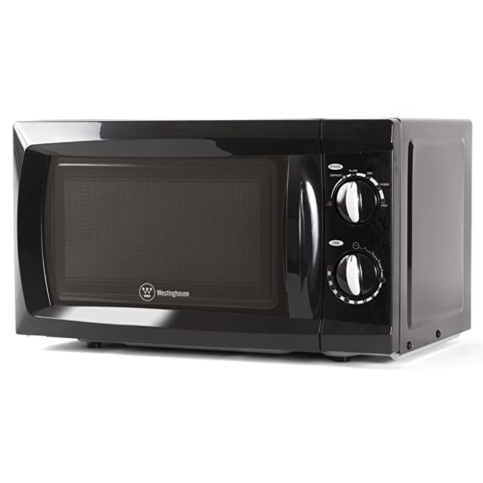 Commercial Chef 600 Watt Counter Top Rotary Microwave Oven, 0.6 Cubic Feet, Black, CHM660B