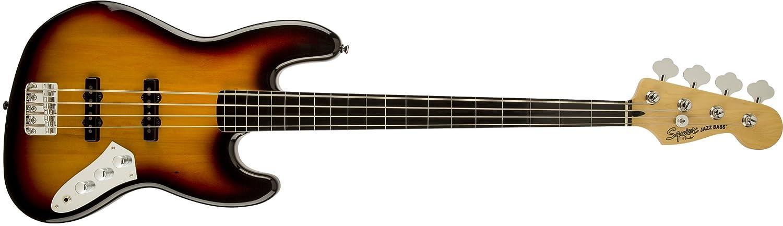 Vintage Modified Jazz Bass Fretless 3-Color Sunburst Fender Squier 0306608500