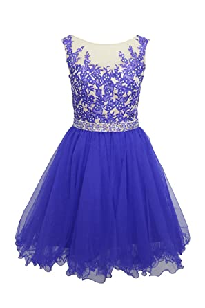 Amazon.com: Ellames Short Homecoming Dress For Juniors Plus Size ...