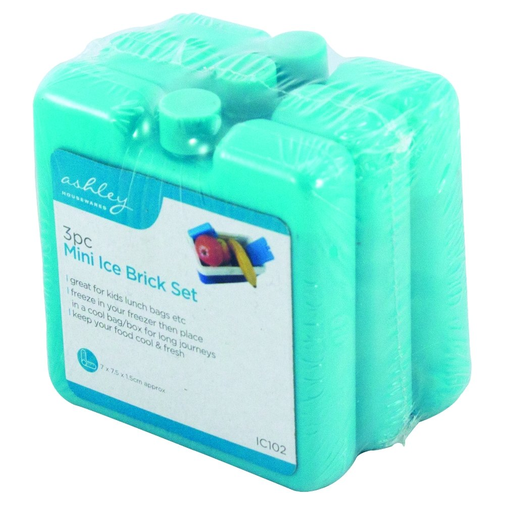 3 Pack of Portable Small Ice Freezer Blocks Home, Furniture & DIY New Reusable Mini Freezer Blocks