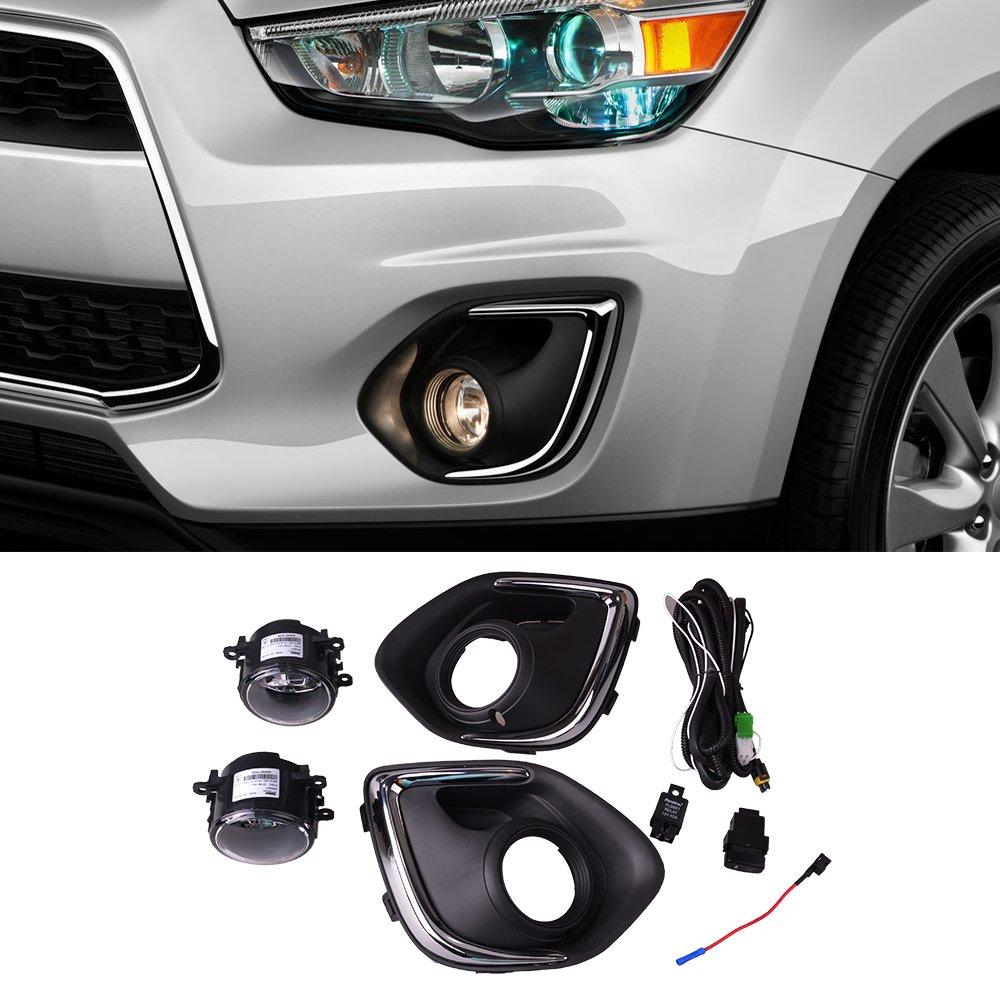 DILIDLI Front Fog Lights lamp & Wire harness For Mitsubishi Outlander Sport ASX 2013-2016