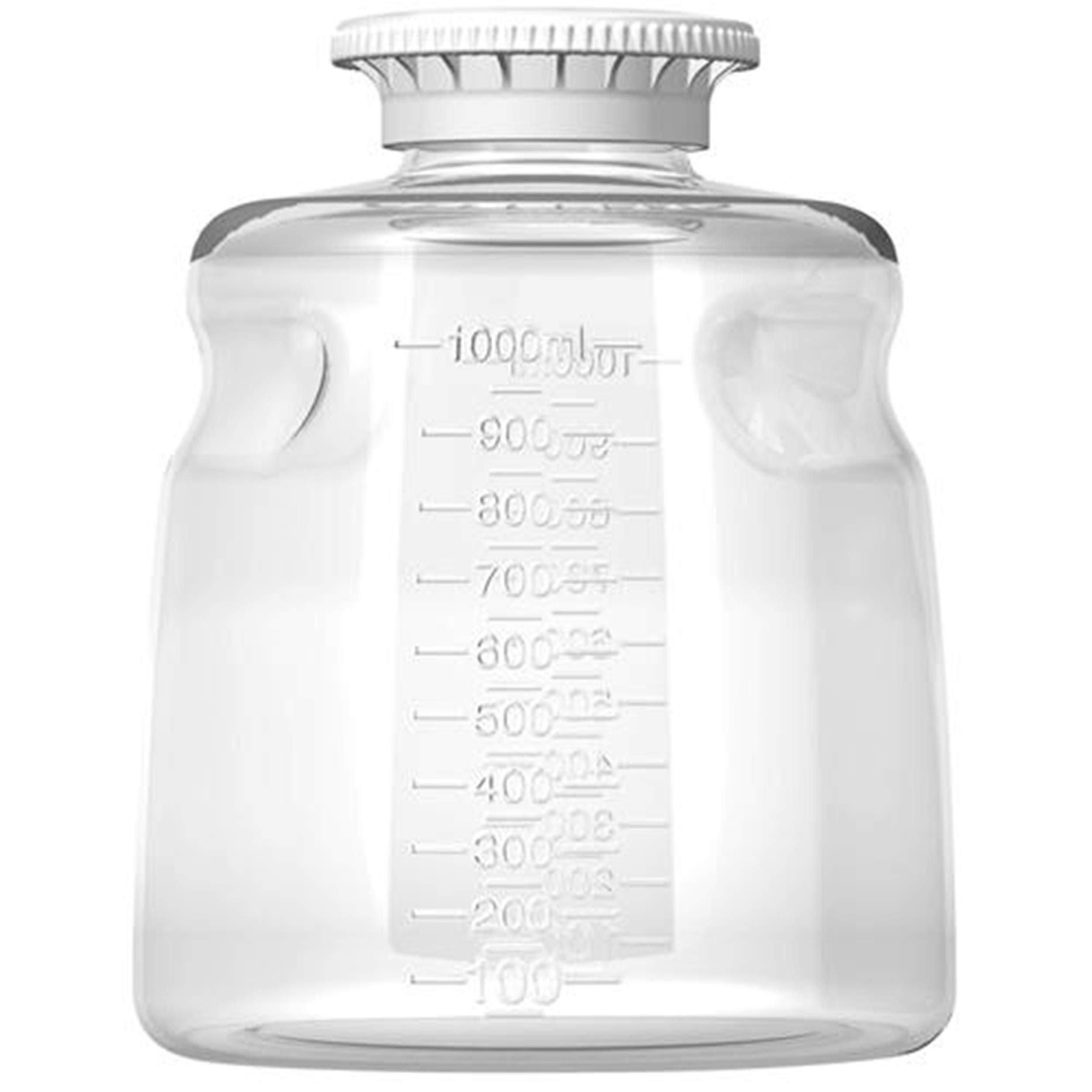 Autofil Polystyrene Sterile Disposable Media Bottle with Polypropylene Cap, 1000ml Volume (Pack of 24) by Foxx Life Sciences