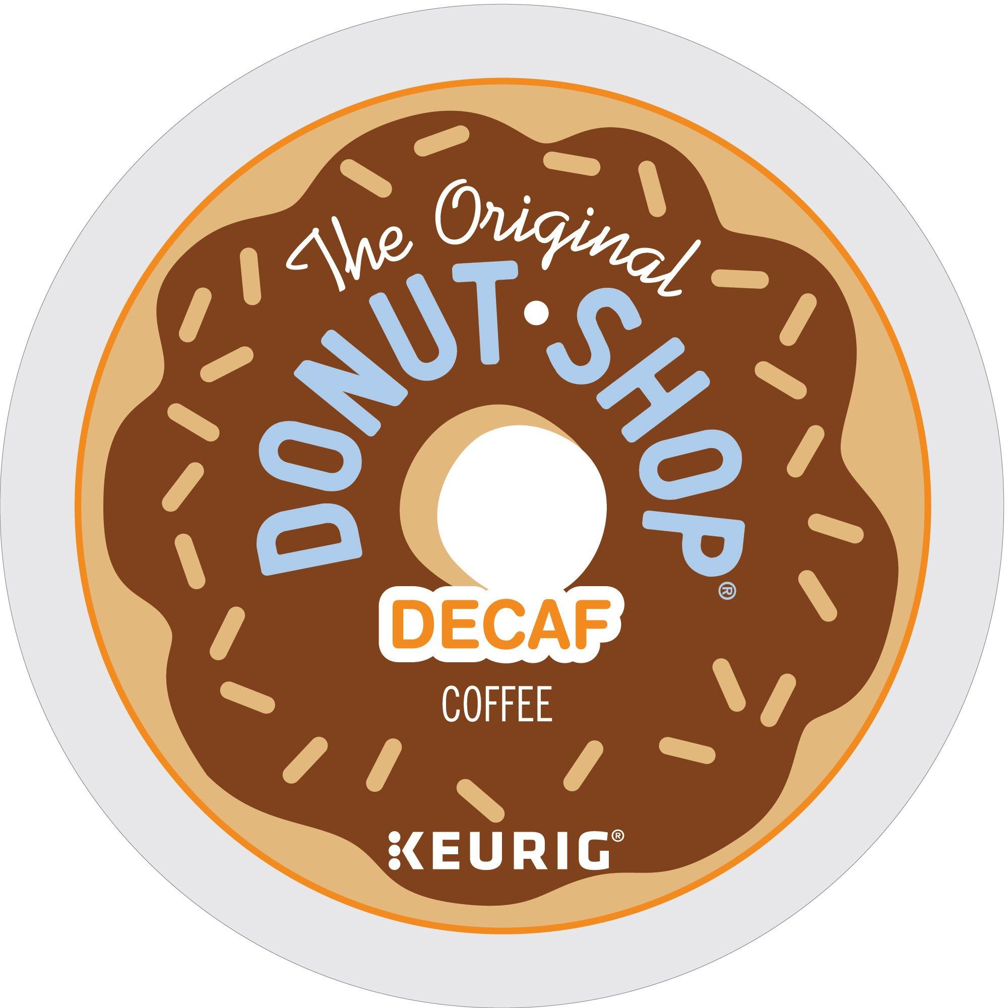 The Original Donut Shop Decaf Keurig Single-Serve K-Cup Pods, Medium Roast Coffee, 72 Count (6 Boxes of 12 Pods)