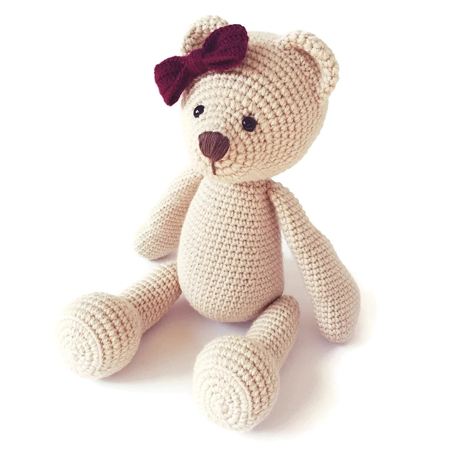 How To Make A Cute Small Crocheted Teddy Bear - DIY Crafts ... | 1500x1500