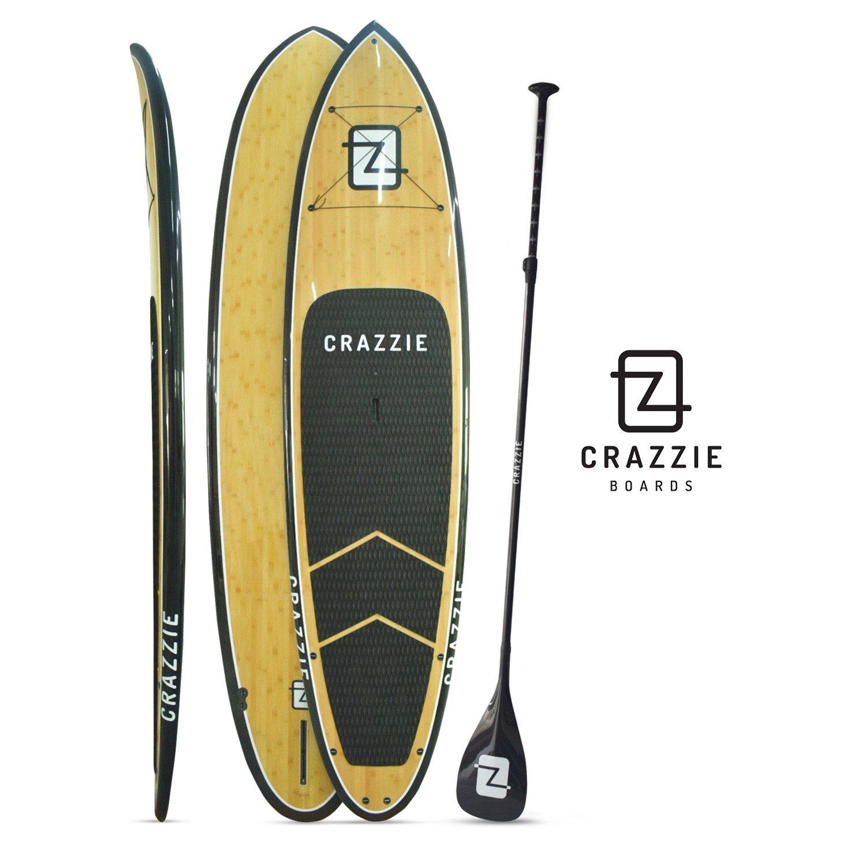 【特別セール品】 CRAZZIE (10.6フィート) スタンドアップパドルボード CRAZZIE (10.6フィート) 本物の竹材 ブラックレール付き 本物の竹材 B01M35ZNR0, タキグン:021b3166 --- diesel-motor.pl