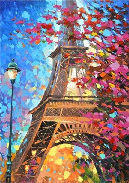 Round diamond full diamond diamond painting Paris diy diamond cross stitch 5d