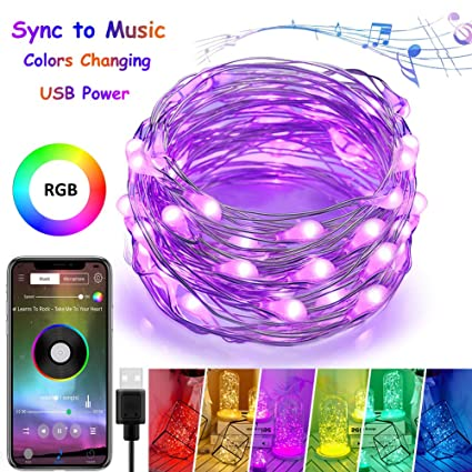 4-fq fairy string lights, usb fairy lights plug in,color changing led