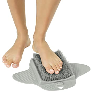 Beautiful Shower Foot Scrubber By Vive   Bath Tub Floor Brush For Cleaning Feet Soles  And Callus