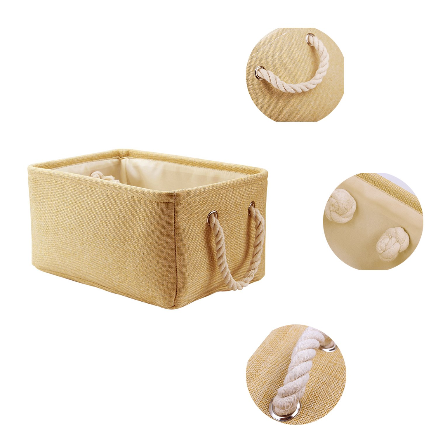 Storage Basket Baby Laundry Basket Toys Box Closet Organizer with Handles,16.1 X 12.2 X 7.9 inch