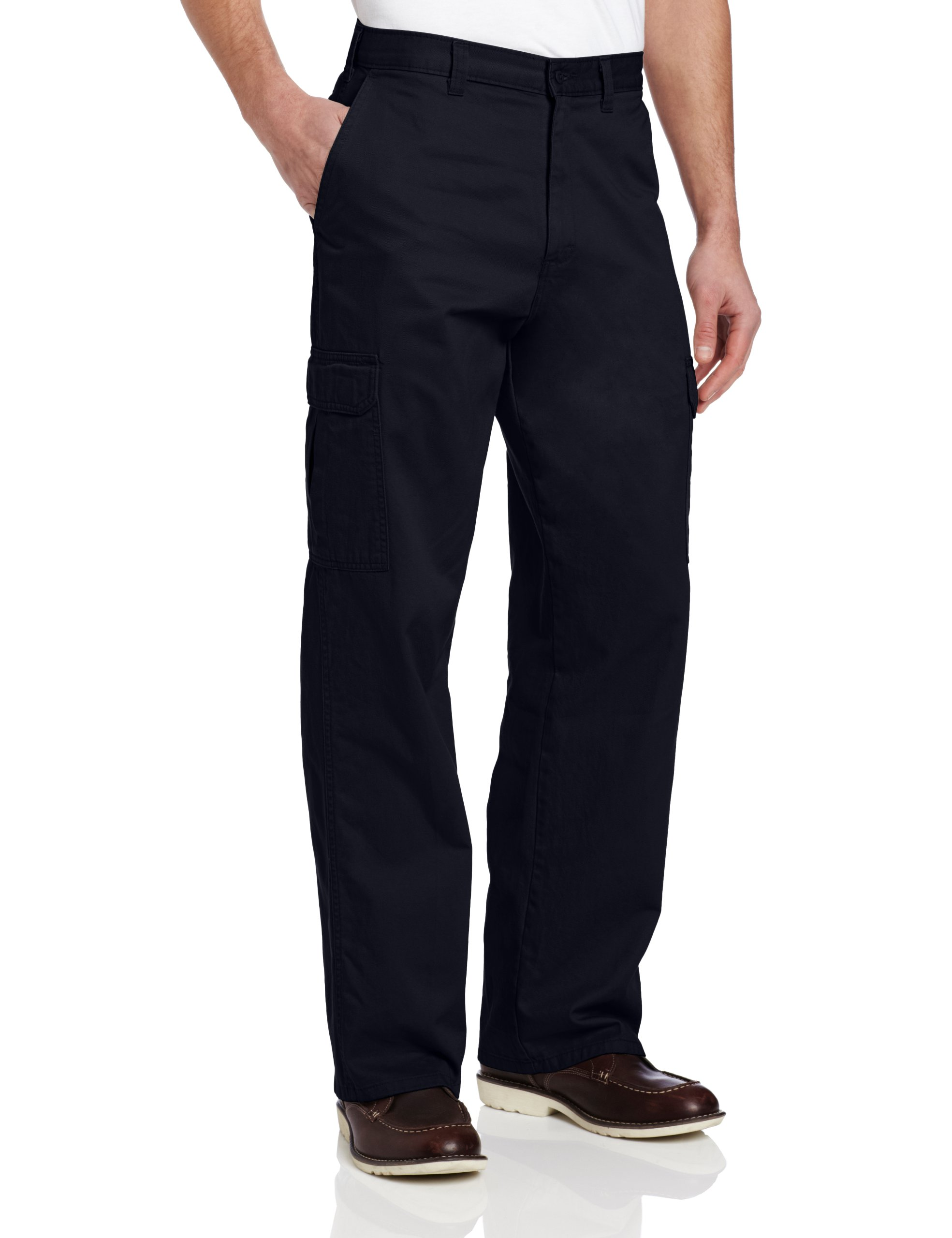 Dickies Men's Loose Fit Cargo Work Pant, Dark Navy, 38x30