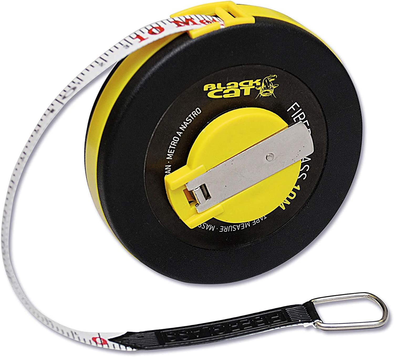10 m Black Cat Rhino Ma/ßband Accessory//Tools//Weiging Scale and Measure Tape