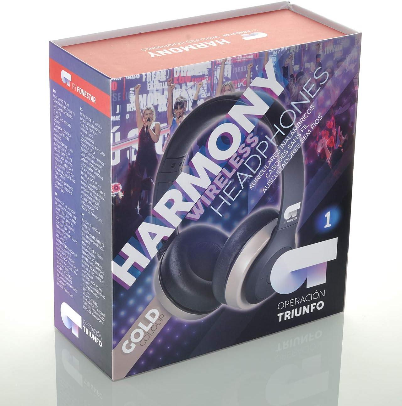Operacion Triunfo OT Harmony-D Fonestar Auriculares Bluetooth Dorado: Amazon.es: Electrónica