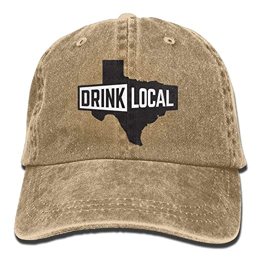 90e84018fd0 Image Unavailable. Image not available for. Color  HENBEERS Drink Local  Denim Baseball Caps Hat ...